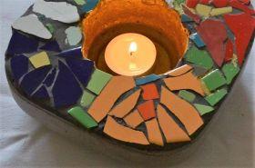 Botonová miska s mozaikou