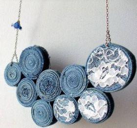 Upcycling workshop: Textilní šperk - upcycling šperk