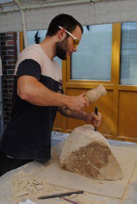 Práce s pískovcem