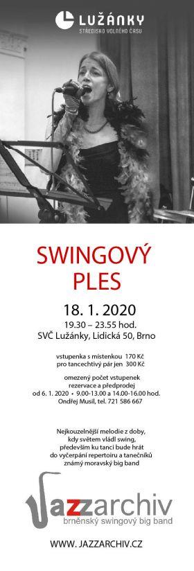 Swingový ples - leták