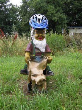 Vousatý cyklista